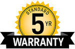 5 Year Warrany
